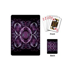 Fractal In Lovely Swirls Of Purple And Blue Playing Cards (mini)