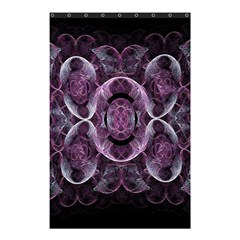 Fractal In Lovely Swirls Of Purple And Blue Shower Curtain 48  X 72  (small)  by Simbadda