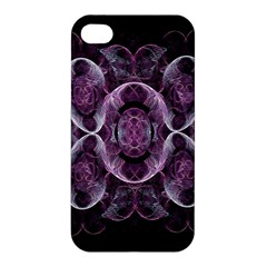 Fractal In Lovely Swirls Of Purple And Blue Apple Iphone 4/4s Premium Hardshell Case by Simbadda