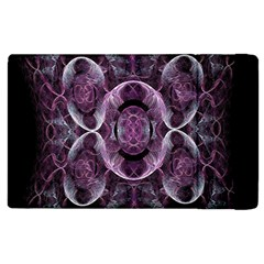 Fractal In Lovely Swirls Of Purple And Blue Apple Ipad 2 Flip Case by Simbadda