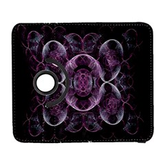 Fractal In Lovely Swirls Of Purple And Blue Galaxy S3 (flip/folio) by Simbadda
