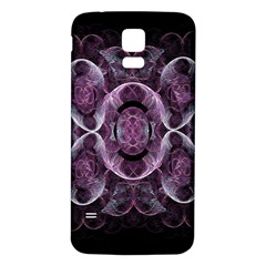 Fractal In Lovely Swirls Of Purple And Blue Samsung Galaxy S5 Back Case (white)