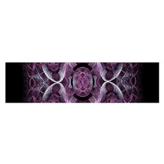 Fractal In Lovely Swirls Of Purple And Blue Satin Scarf (oblong)