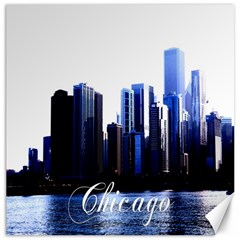 Abstract Of Downtown Chicago Effects Canvas 12  X 12   by Simbadda