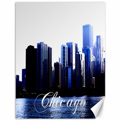 Abstract Of Downtown Chicago Effects Canvas 18  X 24   by Simbadda