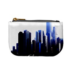 Abstract Of Downtown Chicago Effects Mini Coin Purses by Simbadda
