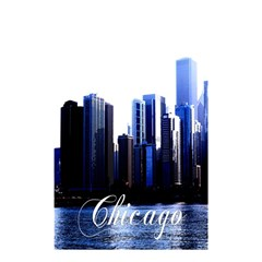 Abstract Of Downtown Chicago Effects Shower Curtain 48  X 72  (small)  by Simbadda