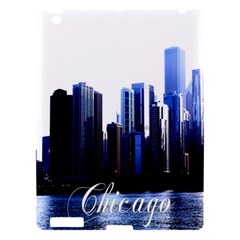 Abstract Of Downtown Chicago Effects Apple Ipad 3/4 Hardshell Case by Simbadda