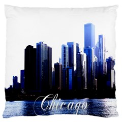 Abstract Of Downtown Chicago Effects Large Cushion Case (two Sides) by Simbadda