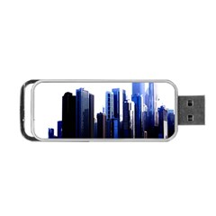 Abstract Of Downtown Chicago Effects Portable Usb Flash (two Sides) by Simbadda