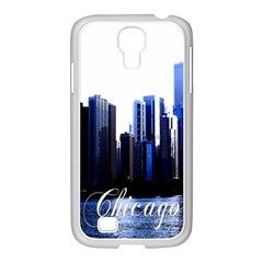 Abstract Of Downtown Chicago Effects Samsung Galaxy S4 I9500/ I9505 Case (white) by Simbadda