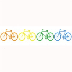 Rainbow Colors Bright Colorful Bicycles Wallpaper Background Large Bar Mats by Simbadda