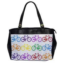 Rainbow Colors Bright Colorful Bicycles Wallpaper Background Office Handbags by Simbadda