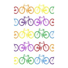 Rainbow Colors Bright Colorful Bicycles Wallpaper Background Shower Curtain 48  X 72  (small)