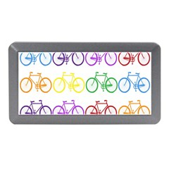 Rainbow Colors Bright Colorful Bicycles Wallpaper Background Memory Card Reader (mini)