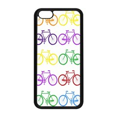 Rainbow Colors Bright Colorful Bicycles Wallpaper Background Apple Iphone 5c Seamless Case (black)
