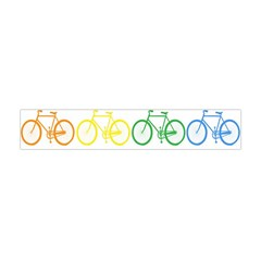 Rainbow Colors Bright Colorful Bicycles Wallpaper Background Flano Scarf (mini) by Simbadda