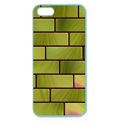 Modern Green Bricks Background Image Apple Seamless Iphone 5 Case (color) by Simbadda
