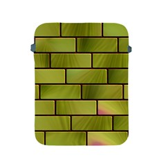 Modern Green Bricks Background Image Apple Ipad 2/3/4 Protective Soft Cases