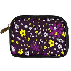Flowers Floral Background Colorful Vintage Retro Busy Wallpaper Digital Camera Cases