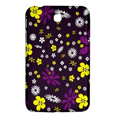Flowers Floral Background Colorful Vintage Retro Busy Wallpaper Samsung Galaxy Tab 3 (7 ) P3200 Hardshell Case