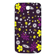 Flowers Floral Background Colorful Vintage Retro Busy Wallpaper Samsung Galaxy Mega I9200 Hardshell Back Case