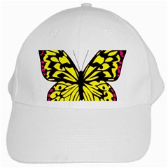 Yellow A Colorful Butterfly Image White Cap
