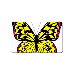 Yellow A Colorful Butterfly Image Magnet (name Card) by Simbadda