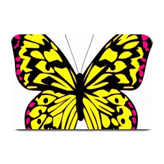 Yellow A Colorful Butterfly Image Plate Mats by Simbadda