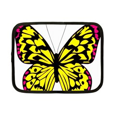 Yellow A Colorful Butterfly Image Netbook Case (small)  by Simbadda