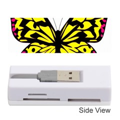 Yellow A Colorful Butterfly Image Memory Card Reader (stick)