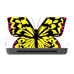 Yellow A Colorful Butterfly Image Memory Card Reader With Cf