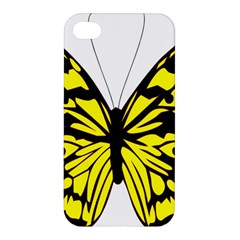 Yellow A Colorful Butterfly Image Apple Iphone 4/4s Premium Hardshell Case by Simbadda