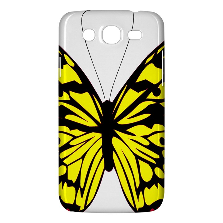 Yellow A Colorful Butterfly Image Samsung Galaxy Mega 5.8 I9152 Hardshell Case