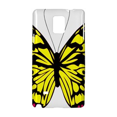 Yellow A Colorful Butterfly Image Samsung Galaxy Note 4 Hardshell Case by Simbadda
