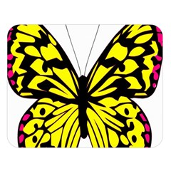 Yellow A Colorful Butterfly Image Double Sided Flano Blanket (large)