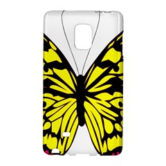 Yellow A Colorful Butterfly Image Galaxy Note Edge by Simbadda