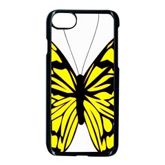 Yellow A Colorful Butterfly Image Apple Iphone 7 Seamless Case (black) by Simbadda