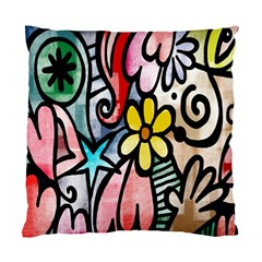 Digitally Painted Abstract Doodle Texture Standard Cushion Case (two Sides)