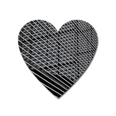 Abstract Architecture Pattern Heart Magnet by Simbadda