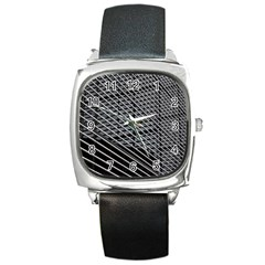 Abstract Architecture Pattern Square Metal Watch by Simbadda