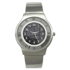 Abstract Architecture Pattern Stainless Steel Watch by Simbadda