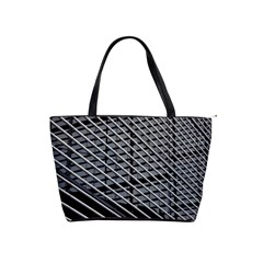 Abstract Architecture Pattern Shoulder Handbags by Simbadda