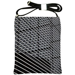 Abstract Architecture Pattern Shoulder Sling Bags by Simbadda