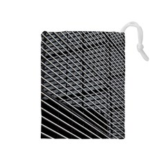 Abstract Architecture Pattern Drawstring Pouches (medium)  by Simbadda