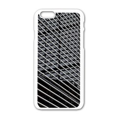 Abstract Architecture Pattern Apple Iphone 6/6s White Enamel Case by Simbadda