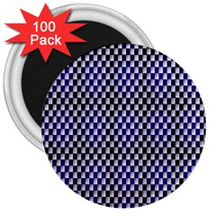 Squares Blue Background 3  Magnets (100 Pack) by Simbadda