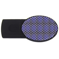Squares Blue Background Usb Flash Drive Oval (2 Gb)