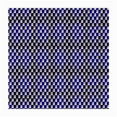 Squares Blue Background Medium Glasses Cloth (2 Side) by Simbadda