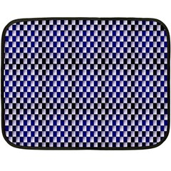 Squares Blue Background Double Sided Fleece Blanket (mini)  by Simbadda